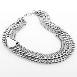 Ocelový náhrdelník Storm Trygo Silver