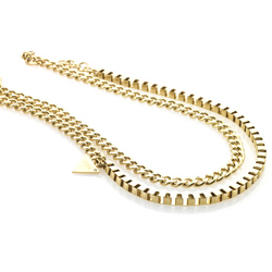 Ocelový náhrdelník Storm Zulu Gold