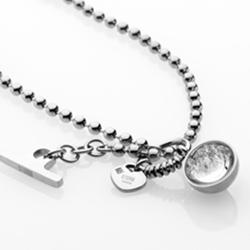 Ocelový náhrdelník Storm Crysta Ball Silver