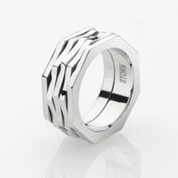 Ocelový prsten Storm Wayvo Silver