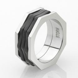 Ocelový prsten Storm Wayvo Slate