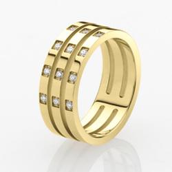 Ocelový prsten Storm Zella Gold