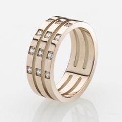 Ocelový prsten Storm Zella Rose Gold
