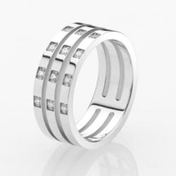 Ocelový prsten Storm Zella Silver