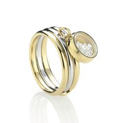Ocelový prsten Storm Mimi Gold