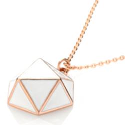 Ocelový náhrdelník Storm Geo Rose Gold