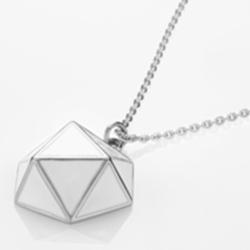 Ocelový náhrdelník Storm Geo Silver