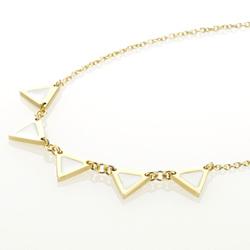 Ocelový náhrdelník Storm Enamelli Gold