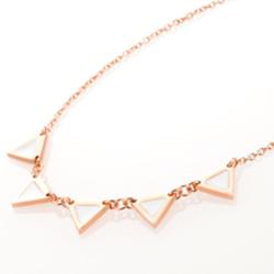 Ocelový náhrdelník Storm Enamelli Rose Gold