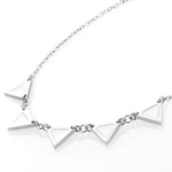 Ocelový náhrdelník Storm Enamelli Silver