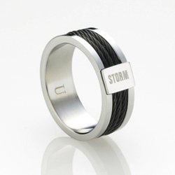 Ocelový prsten Storm Myon Black