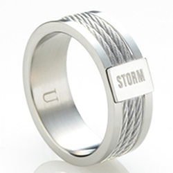 Ocelový prsten Storm Myon Silver