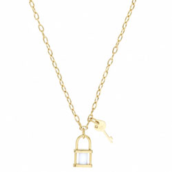 Ocelový náhrdelník Storm Onyxia Gold
