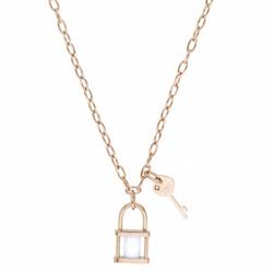 Ocelový náhrdelník Storm Onyxia Rose Gold