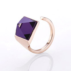Ocelov� prsten Storm Gemza Rose Gold Purple