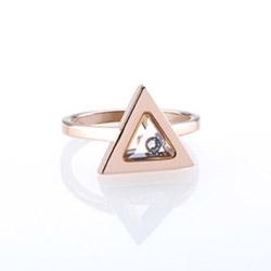 Ocelový prsten Storm Tryla Rose Gold