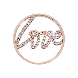 Obrázek è. 2 k produktu: Pøívìsek Hot Diamonds Emozioni Sparkle Love Rose Gold Coin