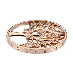 Pøívìsek Hot Diamonds Emozioni Tree Of Life Rose Gold Coin