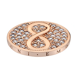 Pøívìsek Hot Diamonds Emozioni Infinity Rose Gold Coin