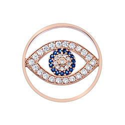 Obrázek è. 2 k produktu: Pøívìsek Hot Diamonds Emozioni Eye Sparkle Rose Gold Coin