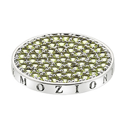Přívěsek Hot Diamonds Emozioni Scintilla Peridot Nature Coin