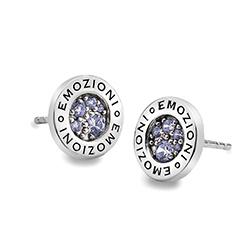 Støíbrné náušnice Hot Diamonds Emozioni Scintilla Lavender Calmess