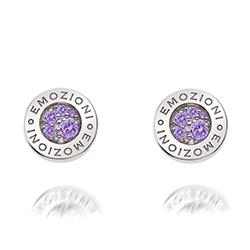 Obrázek è. 2 k produktu: Støíbrné náušnice Hot Diamonds Emozioni Scintilla Violet Spirituality