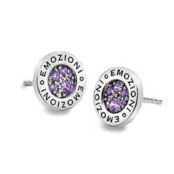 Støíbrné náušnice Hot Diamonds Emozioni Scintilla Violet Spirituality