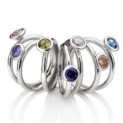 Obrázek è. 4 k produktu: Støíbrný prsten Hot Diamonds Emozioni Scintilla Peridot Nature