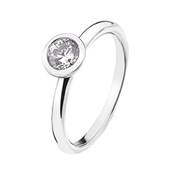 Støíbrný prsten Hot Diamonds Emozioni Scintilla Clear Innocence