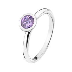 Støíbrný prsten Hot Diamonds Emozioni Scintilla Lavender Calmness
