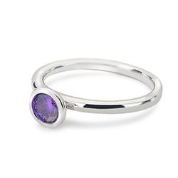 Obrázek è. 2 k produktu: Støíbrný prsten Hot Diamonds Emozioni Scintilla Violet Spirituality