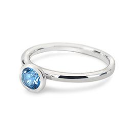 Obrázek č. 1 k produktu: Stříbrný prsten Hot Diamonds Emozioni Scintilla Blue Peace