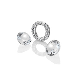 Pøívìsek Hot Diamonds Abeceda Anais element EX234