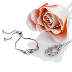 Obrázek è. 6 k produktu: Støíbrný náramek Hot Diamonds Chandelier Vintage Rose Gold