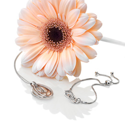 Obrázek è. 8 k produktu: Støíbrný náramek Hot Diamonds Chandelier Vintage Rose Gold