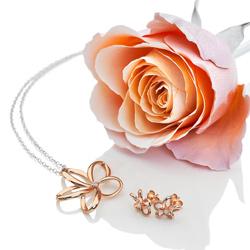 Obrázek è. 6 k produktu: Støíbrné náušnice Hot Diamonds Paradise Rose Gold