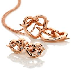 Obrázek è. 8 k produktu: Støíbrné náušnice Hot Diamonds Infinity Heart Rose Gold