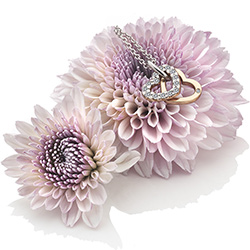 Obrázek è. 6 k produktu: Pøívìsek Hot Diamonds Valentines white topaz DP683