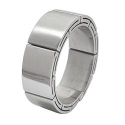 Prsten z chirurgické oceli RSS07 Tribal