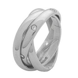 Prsten z chirurgické oceli RSS19 Tribal