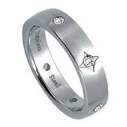 Prsten z chirurgické oceli RSS240 Tribal