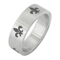 Prsten z chirurgické oceli RSS242 Tribal