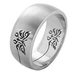 Prsten z chirurgické oceli RSS260 Tribal