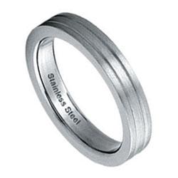 Prsten z chirurgické oceli RSS49 Tribal