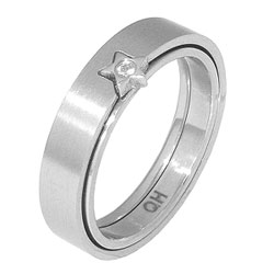 Prsten z chirurgické oceli RSS 95 Tribal
