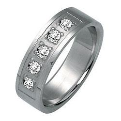 Prsten z chirurgické oceli RSSJ04 Tribal