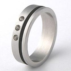 Prsten z chirurgické oceli RSSJ08 Tribal