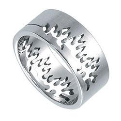 Prsten z chirurgické oceli RSSO305 Tribal