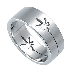 Prsten z chirurgické oceli RSSO306 Tribal